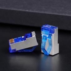 镀镍镀金超六类屏蔽水晶头